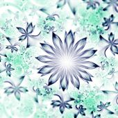Abstract fractal flowers, digital artwork for creative graphic design — Stockfoto