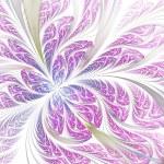Light purple fractal flower or butterfly, digital artwork for creative graphic design — Stock Photo #72456445