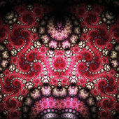 Red fractal swirly pattern, digital artwork for creative graphic design — Stock Photo