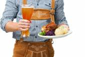 Bavarian waiter — Stock Photo