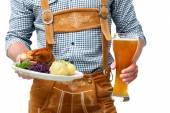 Bavarian waiter — Stock Photo
