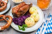 Bavarian meal — Stock Photo