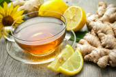 Cup of ginger tea — Foto Stock
