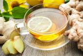 Cup of ginger tea — Stock Photo