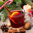 Glass of red mulled wine — Stock Photo #56920967