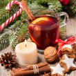 Glass of red mulled wine — Stock Photo #56921009