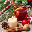 Glass of red mulled wine — Stock Photo #57524179