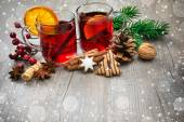 Delicious mulled wine — Stockfoto