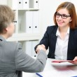 Job applicant having interview — Stock Photo #68104887