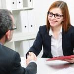 Job applicant having interview — Stock Photo #68104907