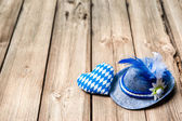 Background with Bavarian hat and heart — Stock Photo