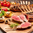 Grilled Rack of lamb — Stock Photo #74070555