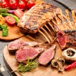 Grilled Rack of lamb — Stock Photo #74070569