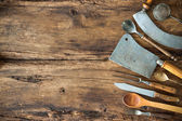 Vintage kitchen utensils — Stock Photo