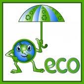 Eco 9 — Stock Vector