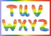 Rainbow alphabet 4 — Stock vektor