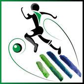 Voetbal 2 — Stockvector