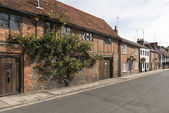 Medieval houses in Friday street, Henley on Thames — Stock Photo