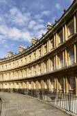 Curved facades at the Circus crescent, Bath — Stock Photo