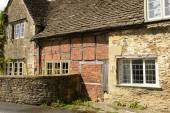 Wattle and stone cottages , Lacock — Stock Photo