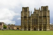 Cathedral green, Wells — Stock Photo