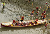 Swapping boat,  Clovelly, Devon — Stock Photo