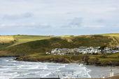Polzeath and its beach, Cornwall — Stock Photo