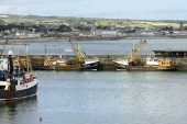 Harbour view, Newlyn — Stock Photo