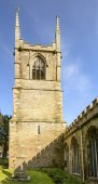 Bell tower of St.Petroc church, Bodmin, Cornwall — ストック写真
