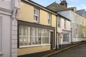 Old street at Fowey, Cornwall — Foto de Stock