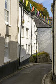 Bending street at Fowey, Cornwall — Foto de Stock