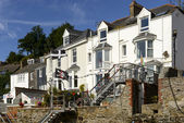 Old terrace houses at Fowey, Cornwall — Stock Photo