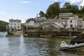 Houses on the cove at Fowey, Cornwall — Foto de Stock