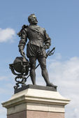Sir Drake statue at Hoe, Plymouth — Stock fotografie