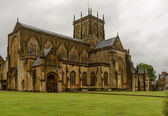 Abbey from south west, Sherborne — Stock Photo