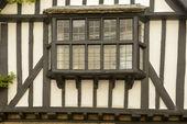 Bow window on wattle house,  Sherborne — Stock Photo