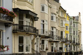 Old bow windows at Brighton, East Sussex — Stock Photo