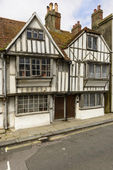 Medieval wattle houses at Hastings — Stock Photo
