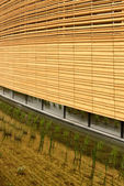 wood facade at Ireland pavilion , EXPO 2015 Milan — Stock Photo