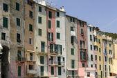 Picturesque traditional facades 4 Portovenere — Stock Photo