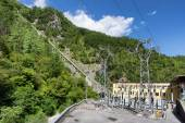 Electric power plant in mountain — Stock Photo