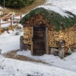 Woodshed hut decorated with wood logs — Stock Photo #61450077