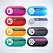 Set of eight round banners — Stock Vector #67347367