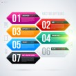 Set of six colorful banners — Stock Vector #67348065