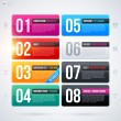 Set of eight rectangle banners — Stock Vector #67348215