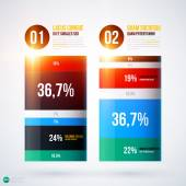 Info graphics chart template — Stock Vector