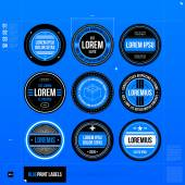 Set of nine labels — Stockvector