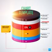 Chart template with cylinder — Stockvektor