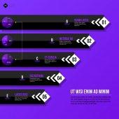 Menu template with horizontal banners — Vector de stock