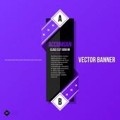 Banner template for web design — Stock Vector